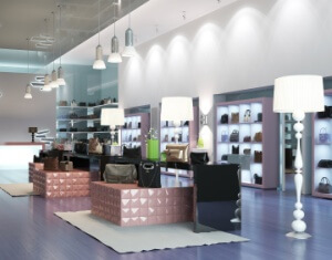 Interior of a modern store