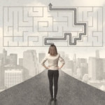 road with maze and solution