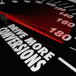 Drive More Conversions Words Speedometer