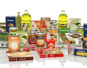 collection of packaged food