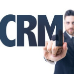 pointing at the text CRM