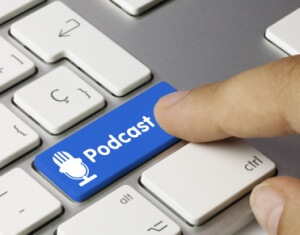 Podcast. Keyboard