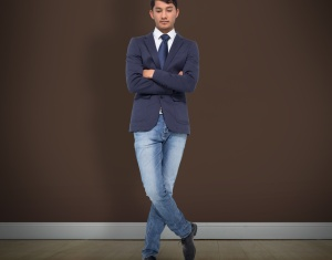 businessman in jeans