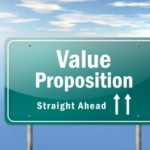 value proposition sign post