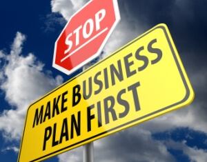 Business PlanFfirst road sign