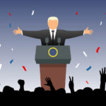 Exulting crowd greets new president