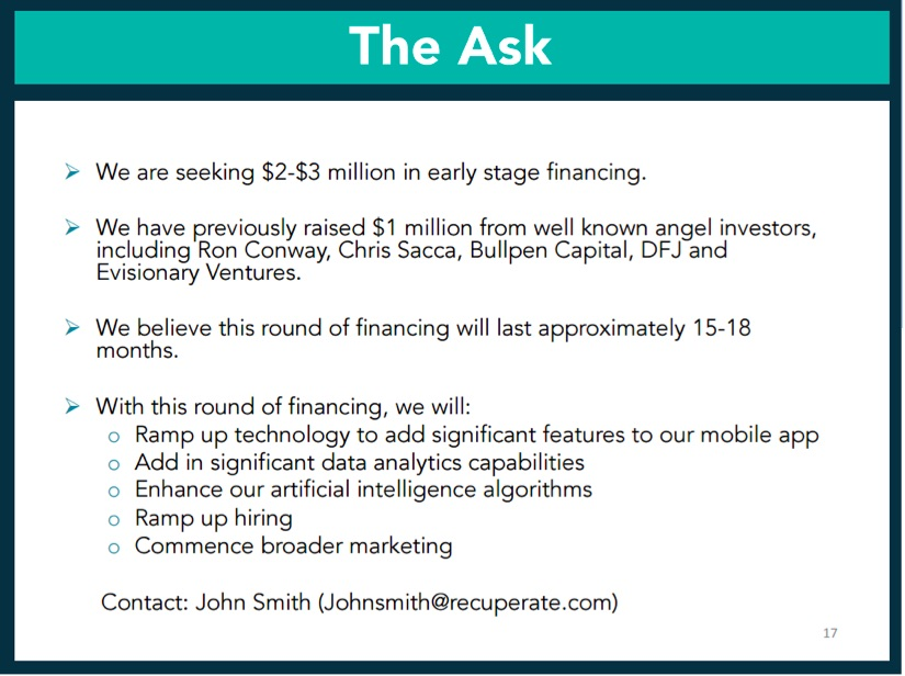 Want To Raise Financing For Your Mobile App Startup Heres The - Angel investor pitch template