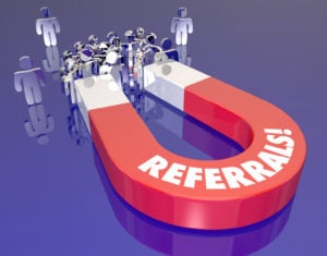 Referrals Magnet Drawing Attracting New Customers