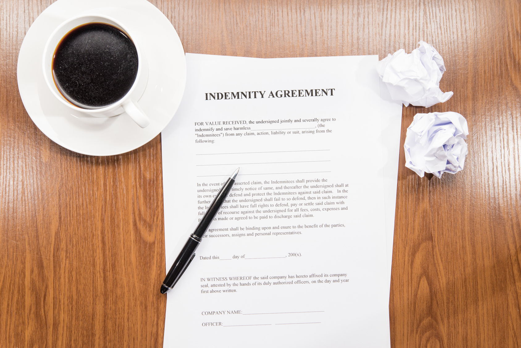 Understanding Indemnity Agreements And How They Can Protect Your