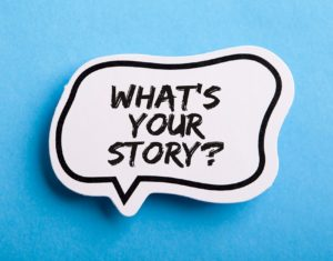 What Is Your Story speech bubble