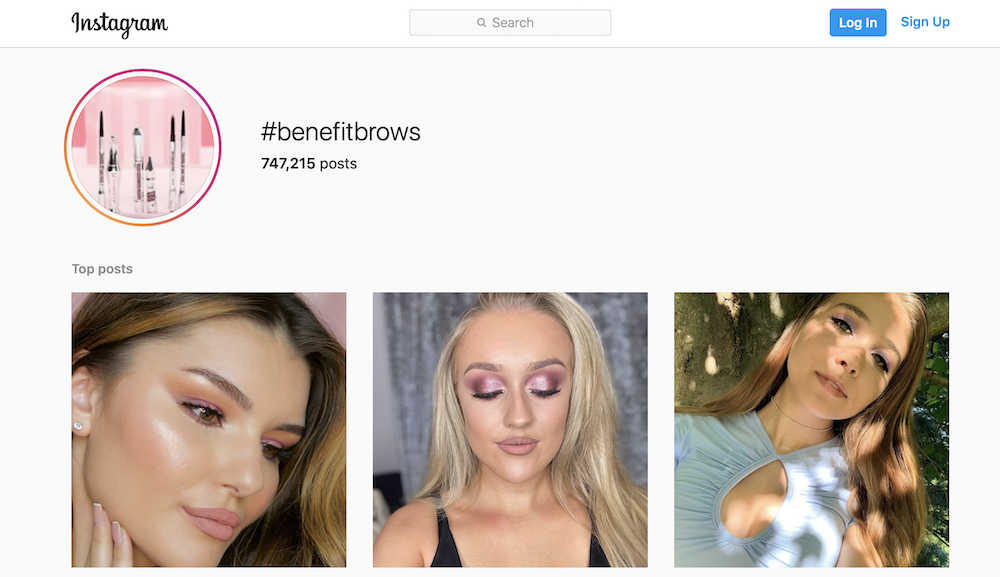 """Instagram Benefitbrows hashtag page """"width ="""" 1000 """"height ="""" 577 """"/> <img class="""