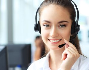 Customer Service Representative With Headset And Smile