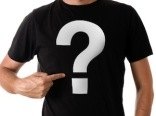 t-shirt with question sign