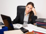 Overwhelmed businesswoman