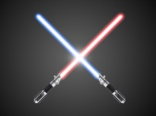 Crossed lightsabers