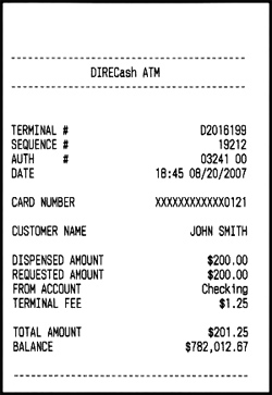 Making Money Off of Fake ATM Receipts | AllBusiness.com