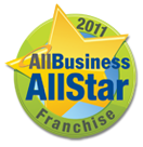 AllBusiness AllStar Franchise Award, green circle with gold star 2011