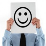 Happy face symbolizing great customer service