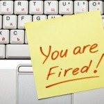 You are fired Post-it note