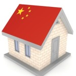 house with chinese flag as roof