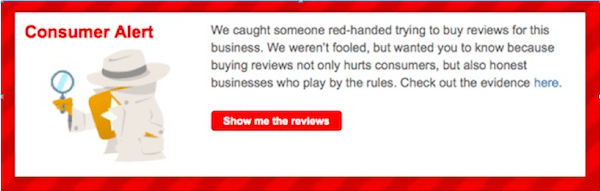 yelp warning