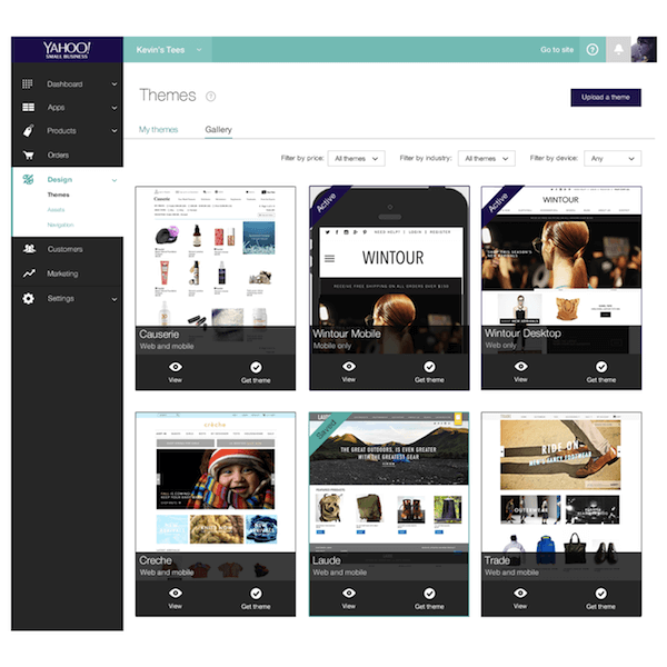 Yahoo 39 s new offering easily set up an e commerce store for Yahoo ecommerce templates